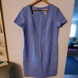 Chadwicks Blue Square Neck Dress - 12